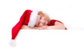 Картинка девушка, праздник, Новый Год, Рождество, christmas, new year, happy