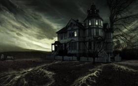 Картинка рисунок, Dan Wheaton, Leaky House Matte