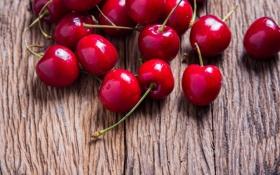 Обои вишня, ягоды, fresh, wood, черешня, sweet, cherry