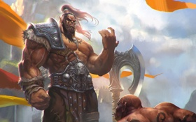 Обои WoW, Warcraft, орк, world of warcraft, warlords of draenor, Grommash Hellscream