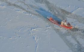 Обои ледокол, лёд, север, корабль
