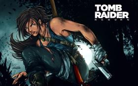 Обои тигр, Tomb Raider, Райдер, Лара, крофт, Томб