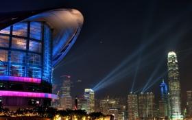 Обои Hong Kong, город, ночь, большой