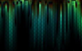 Обои линии, зеленый, полосы, темно