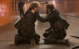 Картинка Jennifer Lawrence, Katniss Everdeen, Josh Hutcherson, Голодные игры:Сойка-пересмешница, The Hunger Games:Mockingjay - Part-2