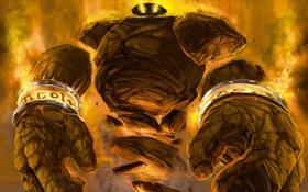 Обои существо, арт, WoW, World of Warcraft, элементаль, Hearthstone, Blackrock Mountain