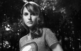 Картинка черно-белое фото, natalie portman, натали портман