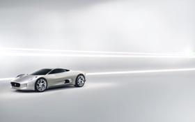 Обои белый, Jaguar, C-XF