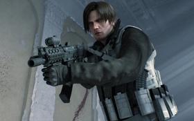 Картинка оружие, автомат, Resident Evil, Biohazard, Leon Scott Kennedy, Resident Evil: Damnation