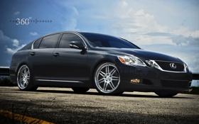 Обои чёрный, Lexus, black, 360 three sixty forged