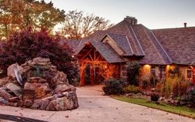 Картинка город, дом, фото, США, Arkansas