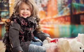 Обои blonde little girl, fashion Beauty, cute, стильная девочка, stylish little girl, счастье, happy