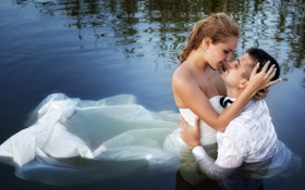 Картинка dress, water, couple