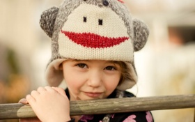 Обои детство, настроение, девочка, шляпка