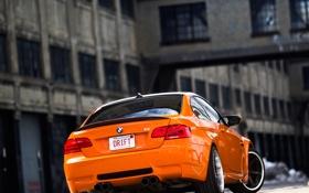 Обои оранжевый, bmw, бмв, orange, e92