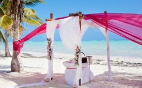 Обои природа, море, небо, пляж, свадьба