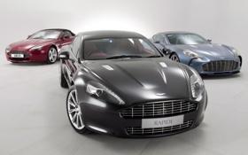 Обои Aston Martin, Rapide, Vantage, передок, Астон Мартин, One-77