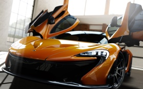Обои машина, игра, спорткар, McLaren P1, Forza Motorsport 5