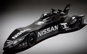 Картинка чёрный, nissan, прототип, ниссан, передок, гоночный болид, 24 Hours of Le Mans