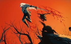 Обои волк, ведьмак, Geralt of Rivia, the Witcher