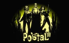 Обои оружие, кактус, герои, postal 3