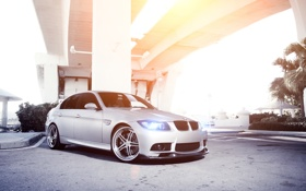 Обои silvery, BMW, серебристый, E90, Sedan, 3 Series, бмв
