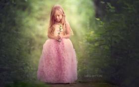Обои цветы, настроение, девочка