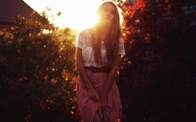 Картинка девушка, свет, фон
