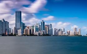 Картинка небо, вода, Майами, Флорида, Miami, florida, панорама vice city