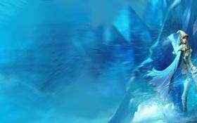 Обои лед, лучница, League of Legends, ashe, LoL