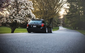 Обои Subaru, субару, черная, black, Outback, stance
