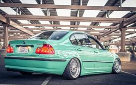 Обои BMW, БМВ, тройка, Диски, E46, 3 series, Stance