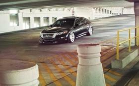 Картинка черная, Хонда, парковка, Honda, black, vossen, Кросстур