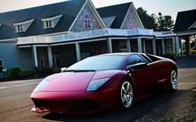 Картинка LP640, Ламборгини, суперкар, пурпурный, Ламборджини, Murcielago, Lamborghini