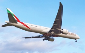 Обои Самолёт, Посадка, B-777, 300