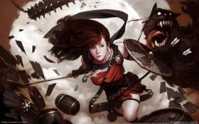Картинка wallpaper, битва, воительница, vindictus
