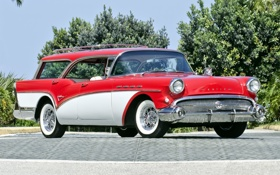Обои универсал, Caballero, передок, Century, 1957, Buick, Бьюик
