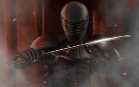 Картинка меч, катана, арт, костюм, шлем, броня
