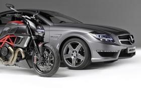 Картинка машина, Mercedes-Benz, мотоцикл, байк, мерседес, AMG, передок