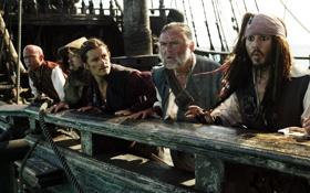 Обои пираты, Pirates of the Caribbean, карибского, моря