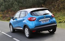 Картинка car, Renault, road, blue, wallpapers, Captur