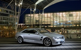 Обои Mercedes, CL-Class, серебристый, Lorinser