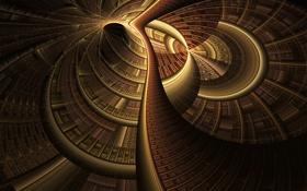 Обои свет, узор, структура, тоннель, объем