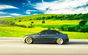 Обои дорога, бмв, скорость, BMW, 335i, sedan, 3 series