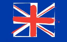 Обои линии, обои, краски, флаг, великобритания