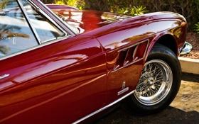 Картинка красный, дизайн, блеск, колесо, тачки, Ferrari, феррари