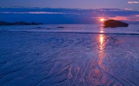 Обои море, закат, утро