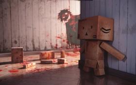 Обои blood, box, murder