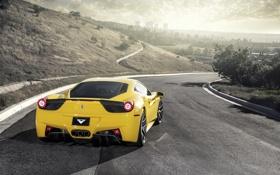 Картинка sky, road, Italia, машина, обои, 458, Ferrari
