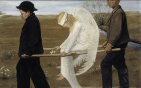 Обои крылья, Картина, живопись, раненый ангел